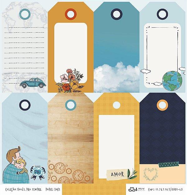 Papel Tags (Coleção Vocês, Pra Sempre) - Pacote com 15 Unidades