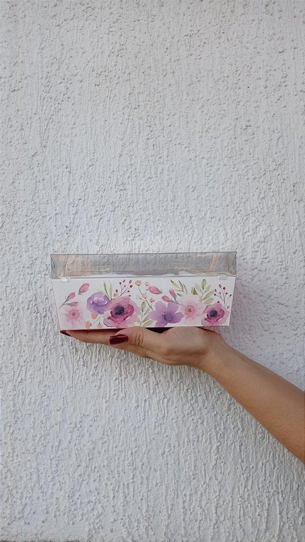 Caixa Bolo Forneável Flowers