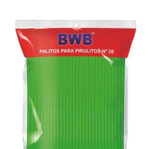 Tubo Pet N° 28 Verde Sólido Palito (BWB)