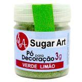 Pó para decoração Verde limão SugarArt