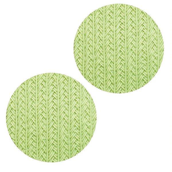 Molde de silicone Textura de Tricô Entrelaçado