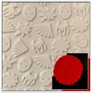 Molde de silicone Textura do Homem Aranha