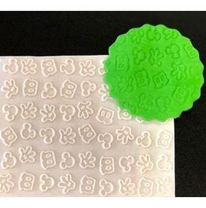Molde de silicone Textura do Mickey