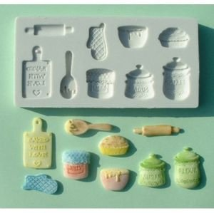 Molde de silicone Tema Utensílios de Cozinha / Confeitaria