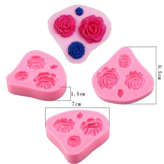 Molde de silicone de Rosas - Tamanhos Diversos jardim