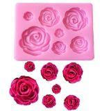 Molde de silicone de Rosas (Modelo 6)