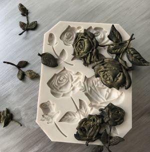 Molde de silicone de Rosas (Modelo 3)