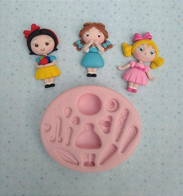 Molde de silicone de Princesas Universal