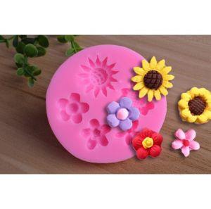 Molde de silicone Mini Flores jardim