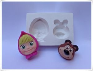 molde de silicone da Masha e o Urso
