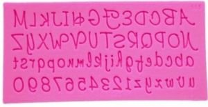 Molde de silicone de Letras/ Alfabeto Desenhado (Modelo 2)
