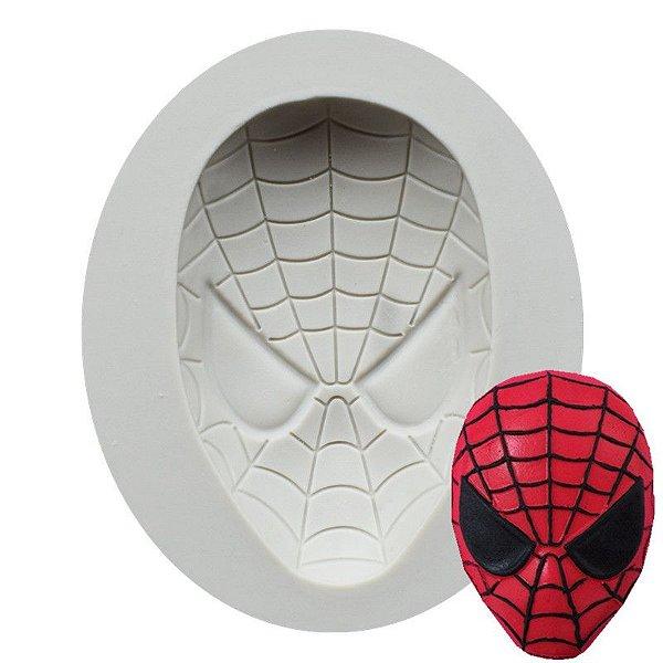 Molde de silicone  Rosto do Homem Aranha