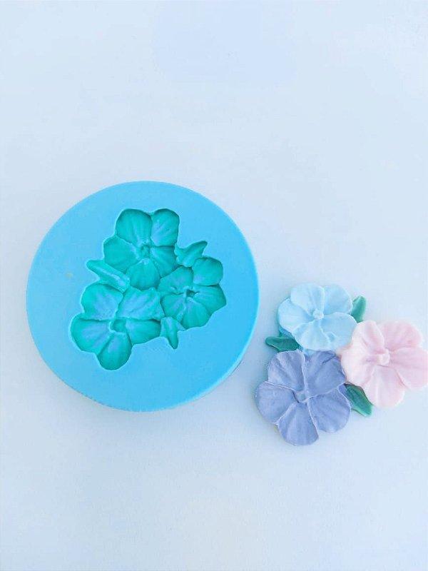 molde de silicone da Flor Violeta