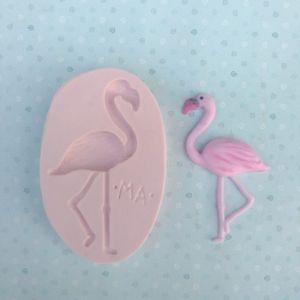 Molde de silicone de Flamingo / tropical