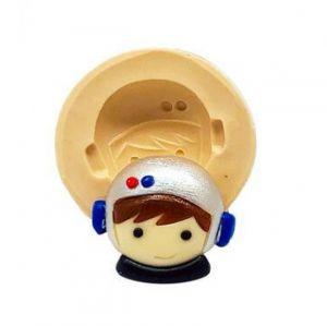 Molde de silicone  Rosto do Astronauta Mini