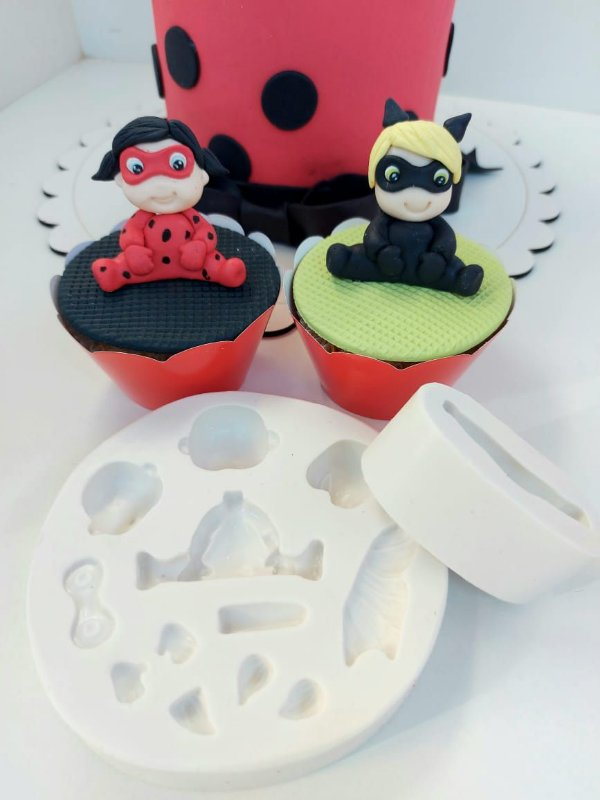Molde de silicone de Heróis Baby Universal lady bug