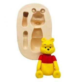 Molde de silicone Turma do Ursinho Pooh - Pooh Sentado