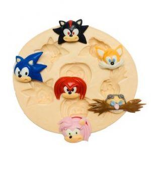 Molde  de silicone Rosto dos Personagens do Sonic