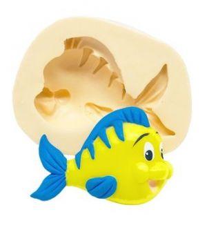 Molde de silicone do Peixe Linguado - Pequena Sereia