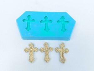 Molde de silicone Mini Cruz batizado
