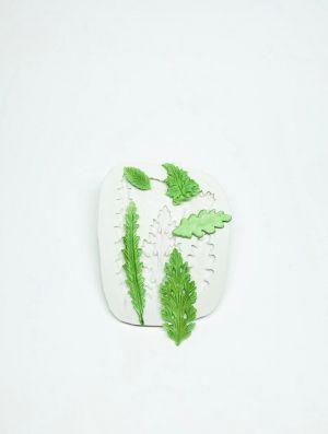 Molde de silicone de Folhas Diversas