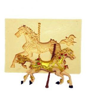 Molde de silicone de Cavalo- Carrossel