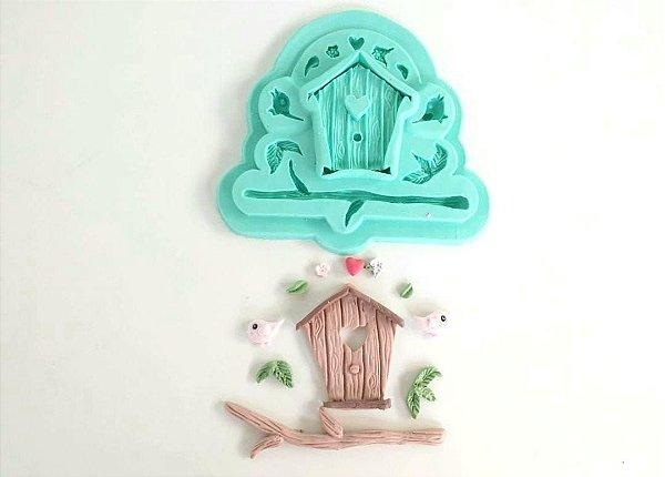 Molde de silicone Casa de Passarinho / pássaro