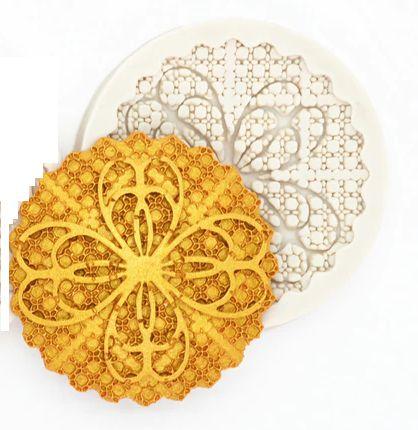 Molde de silicone Tapete Para Renda de Açúcar para Cupcake