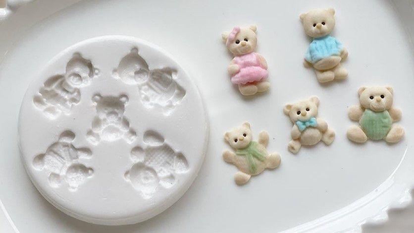 Molde de silicone de Mini Ursos (Modelo 2)