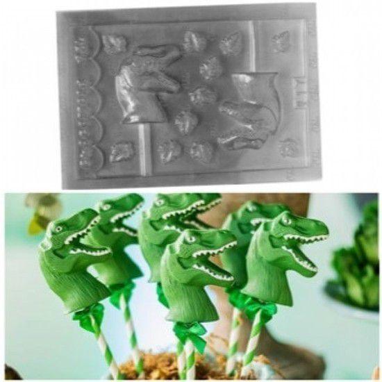 Forminha Simples Pirulito Dinossauro (017)
