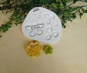 Molde de silicone de Suculentas (Modelo 2)