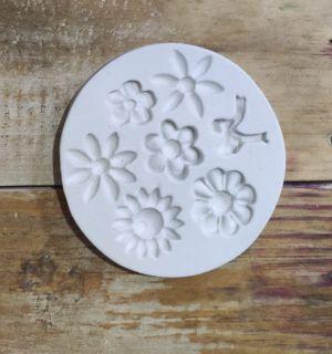 Molde de silicone de Margaridas e Laço