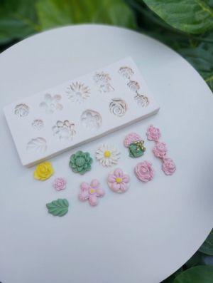 Molde de silicone de Flores Diversas
