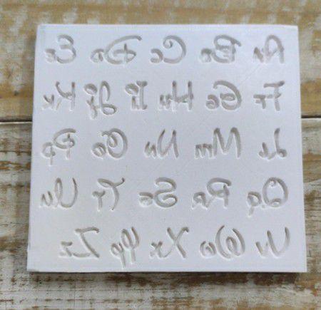 Molde de silicone de Letras/ Alfabeto do Mickey
