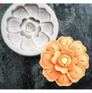 Molde de silicone de Flor Desabrochando