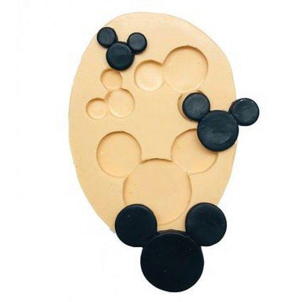 Molde de silicone Silhueta do Mickey / Minnie