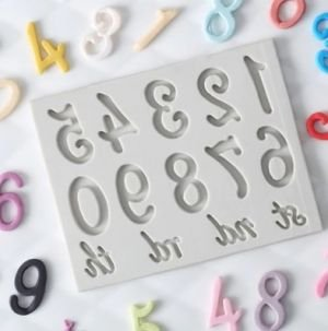 Molde de silicone de Números- Modelo 1