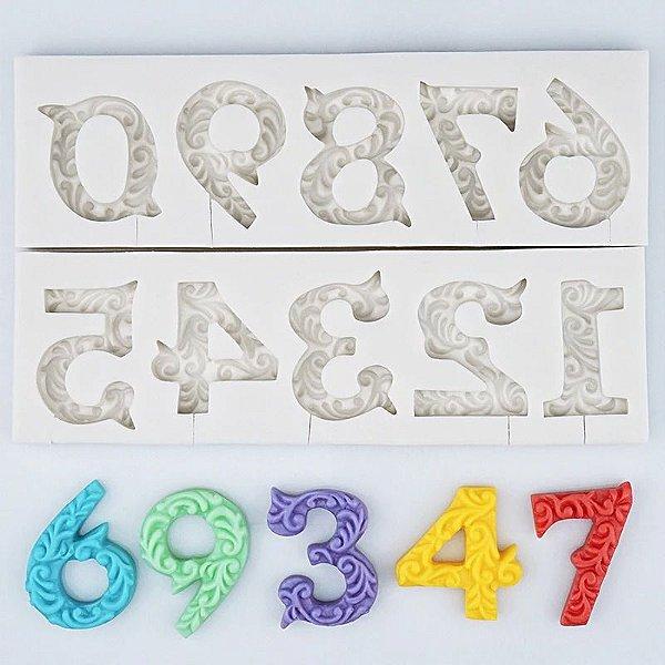 Molde de silicone de Números Decorados/ Arabesco- Modelo 2