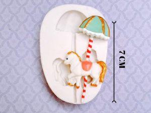 Molde de silicone de Cavalo/Carrossel (Modelo 2)