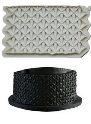 Molde de silicone Bordado de Gotas / acabamento