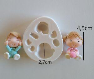 molde de silicone de Bebê / chá de bebe