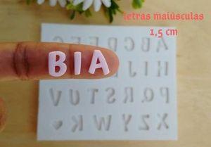 Molde de silicone de Alfabeto/ Letras Maiúsculas
