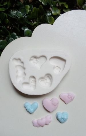 Molde de silicone de Coração (Modelo 2)