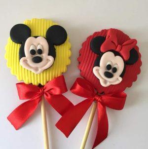 Kit Cortador 3D  Mickey e Minnie (3 cm)