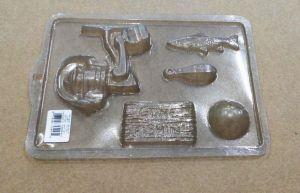 Forminha Simples Kit Pescaria (Peixe, Vara de pescar, Placa, Isca)
