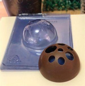 Forma de Silicone Esfera Gigante Vazada 100mm (61)  - Porto Formas