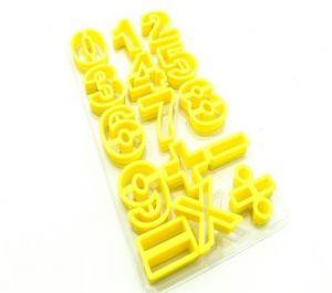 Cortadores de Números e Símbolos amarelo