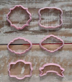Cortador Kit Moldura biscoitos com 6 peças