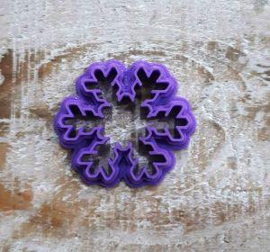 Cortador Floco de Neve Natal / Frozen (4 cm )