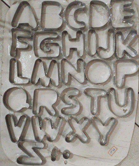 Cortador Alfabeto / Letras   Inox